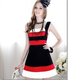 Meg's Place | Black and Red Striped Dress | Online Store Powered by Storenvy  Posted to the Stufflicious.com community storefront by mysisterx1. Buy it directly from megsplace.storenvy.com for $50 today. #Dresses #Casual #Womens #Apparel #Fashion #Style #Cute #Cute