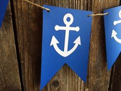 Nautical Anchor Banner - Nautical Decor, Nautical Baby Shower, Nautical Party, Under the Sea Party, Photo Prop Nautical Baby Shower Decorations, Nautical Banner, Nautical Party, Nautical Anchor, Nautical Backdrop, Nautical Cupcake, Fete Laurent, Anchor Baby Showers, Its A Boy Banner