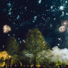 Victory Day fireworks in Riga, Latvia. Photo by Dmitri Korobtsov.