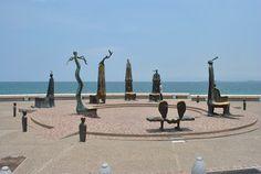 Boardwalk sculptures of Puerto Vallarta
