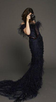 StyleCaster's Senior Editor Perrie Samotin - wearing Marchesa