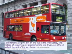 21 Brilliant British People Problems: getting off bus at wrong stop British Things, British People, Jm Barrie, Double Decker Bus, London Bus, World Problems, The Way Home, World View, Great Britain