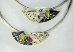 Carolyn Delzoppo enamel necklaces, Australia