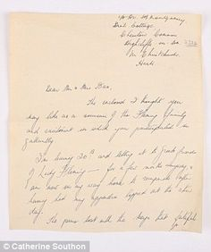 The specimen and two related letters are estimated to sell for up to at Catherine Southon Auctioneers in Surrey next month. Alexander Fleming, Gorgonzola Cheese, Elizabeth Montgomery, Housekeeper, Nobel Prize, Confused, Auction, Letters, Things To Sell