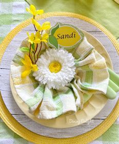 Dining Delight: Mother's Day Lemon Themed Tablescape Yellow Dinner Plates, Yellow Bowls, Mothers Day Dinner, Battery Operated String Lights, A Table, Dinner Table, Taper Candles, Tablescapes, Dinner Sets