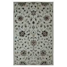 Found it at Wayfair - Element Floral Grey Rug $350 for 5 x 8