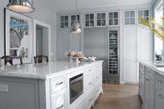 Bright, white kitchen.