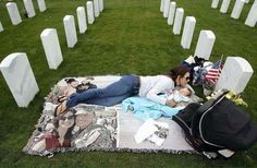 Just another IRAQ WAR Widow & Orphan at Daddy's GRAVESITE !