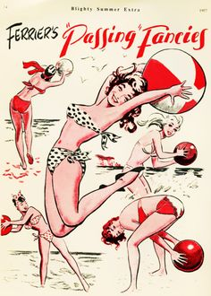 The Magic Whistle Vintage Advertisements, Vintage Ads, Vintage Images, Vintage Beach Party, Vintage Glam Fashion, Funny Ads, Retro Summer, Old Signs, Bathing Beauties