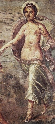 Painting of Selene - from Pompeii, about 1st century BCE, at the Archeological Nazionale Museum, Napoli