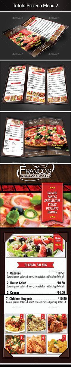 Trifold Pizzeria Menu Template #design Download: http://graphicriver.net/item/trifold-pizzeria-menu-2/12428477?ref=ksioks