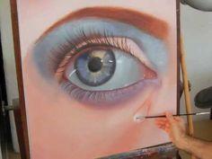 Cómo pintar un ojo realista al óleo