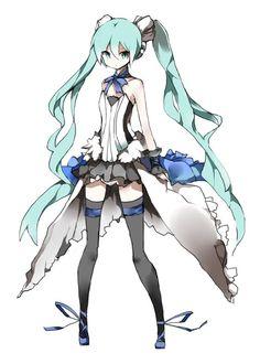 Anime Cosplay Seventh Dragon Hatsune Miku cosplay Hatsune Miku Vocaloid, Miku Chan, Hatsune Miku Outfits, Kaito, 7th Dragon, Miku Cosplay, Mikuo, Kawaii Anime Girl, Anime Girls