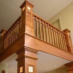 20 new ideas for craftsman stairs railing interior design Craftsman Staircase, Craftsman Interior, Craftsman Style Homes, Craftsman Bungalows, Craftsman Houses, Railing Design, Stair Railing, Staircase Design, Railing Ideas