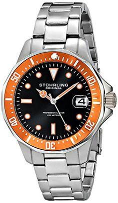 Stuhrling Original Men's 664.04 Aquadiver Quartz Orange Bezel Date Diver Watch Stuhrling Original http://www.amazon.com/dp/B00MIJLQBI/ref=cm_sw_r_pi_dp_TXRoub17WAV7B