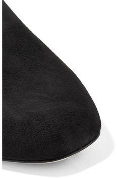 Jimmy Choo - Globe Suede Flats - Black - IT38.5