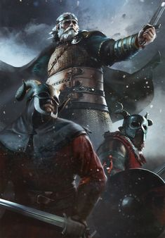 The Witcher/ Bran Tuirseach/ Gwent Card/ Skellige The Witcher Books, The Witcher 3, Medieval Fantasy, Dark Fantasy, Valhalla, Witcher Art, Norse Mythology, Fantasy Inspiration, Fantasy Artwork