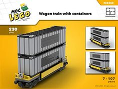Amazon.com: Wagon Contener (Instruction Only): MOC LEGO eBook: Bryan Paquette: Gateway Lego Train Tracks, Lego Trains, Go Boldly, Bored Kids, Container Buildings, Lego Construction, Cool Lego Creations, Lego Design, Lego Parts