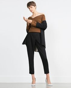 Image 1 of LOOSE-FIT TROUSERS from Zara