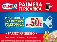 Vinci Ricarica telefonica gratis con Palmera - http://www.omaggiomania.com/concorsi-a-premi/vinci-ricarica-telefonica-gratis-palmera/