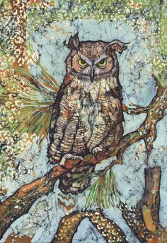 Janet Searfoss is one of the best Batik artists I have met.  She also makes prints from the Batiks.  I am lucky to own several of the prints.  She has a website and sells at major art shows Asheville, Sanibel Island, Atlanta etc.