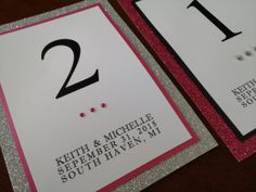 Glitter Table Numbers Glamourous Wedding by decadentdesigns table toppers
