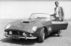 Roger Vadim et sa Ferrari GT California