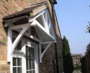Timber Door Canopy Fleur de Lys Style 1200mm
