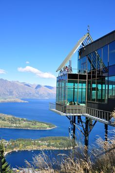 Skyline Restaurant Queenstown - NZ - we were on the very corner of the restaurant (honeymooners)