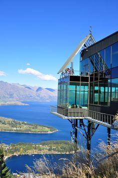 Skyline Restaurant Queenstown - NZ - we were on the very corner of the restaurant (honeymooners)