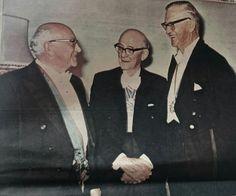 Die eerste drie Staatspresidente van die RSA. Dr. DIEDERICHS,   mnr. JIM Fouche en adv.C.R.Swart.