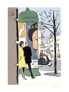 Jason Brooks Store —A street scene from Paris Sketchbook.