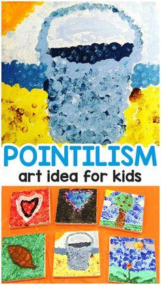 Georges Seurat Pointillism Art Lesson for Kids