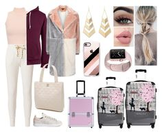 """""""In volo verso NY"""" by nena69 ❤ liked on Polyvore featuring WearAll, adidas, NSF, Lands' End, IKASE, Topshop, Jacki Design, Chanel, Charlotte Russe and Casetify"""