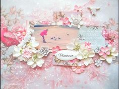 Mixed Media Scrapbooking Layout for Scrapberry's - YouTube