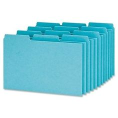 "Oxford Pressboard Index Card Guide - Blank - 6"" x 4"" - 100 / Box - Blue Divider #Oxford"