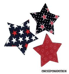 4th Of July.... Patriotic Stars ...Fabric Iron by OnceUponaDesign, $4 ...