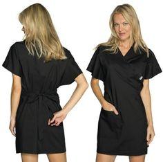 Kimono - Casacca Nera Donna Estetista Spa Centro Benessere Medical Spa, Kimono, Cold Shoulder Dress, Dresses For Work, Shirt Dress, Shirts, Fashion, Moda, Shirtdress