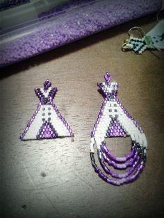 Made by ZHorne beaded Teepee Earrings