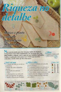 Украшаем текстильные салфетки пуговичками и вышивкой. Схема (1) (467x700, 470Kb)