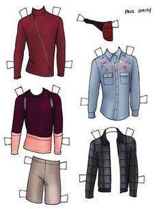 DANIELLE MEDER SS14 Menswear Paper Doll – John Varvatos and PAUL SMITH 1