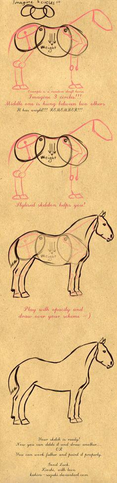 Rascunho, cavalo. por Kahiro Suzuki                                                                                                                                                                                 Mais