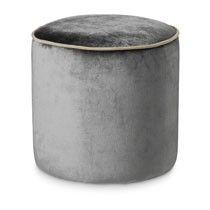 Poef rond - grijs - 35 cm