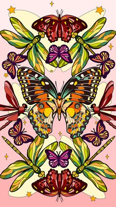 Paint Games, Coloring Apps, Happy Colors, Paint By Number, Paint Colors, Rooster, Butterfly, Drawings, Animals