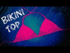 Crochet Lace Bikini Top (heklani bikini, gornji deo) - YouTube