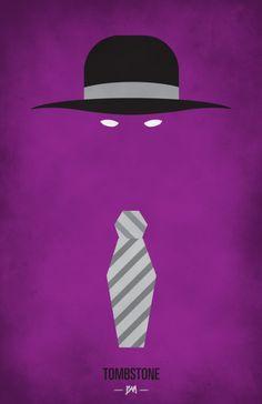 Undertaker Minimalist WWF Wrestling Poster