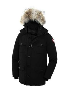 #Warm Wow, Worth it��Cofortable and cheap! Canada Goose Men Banff Black Parka