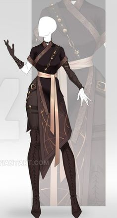 Cosplay Outfits, Anime Outfits, Cool Outfits, Character Design Inspiration, Style Inspiration, Elf Clothes, Clothing Sketches, Anime Dress, Period Outfit