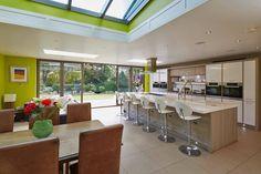 Origin bi fold doors and interesting kitchen design & layout