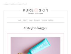 Check out Pure Skin email design example and get inspired. With Mailerlite you can start creating your own newsletters for free within minutes.